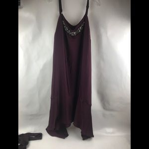 Lane Bryant Burgundy Long Dress Sz 16